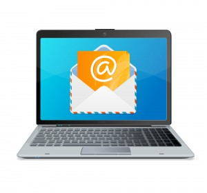 laptop and mail. Vector.