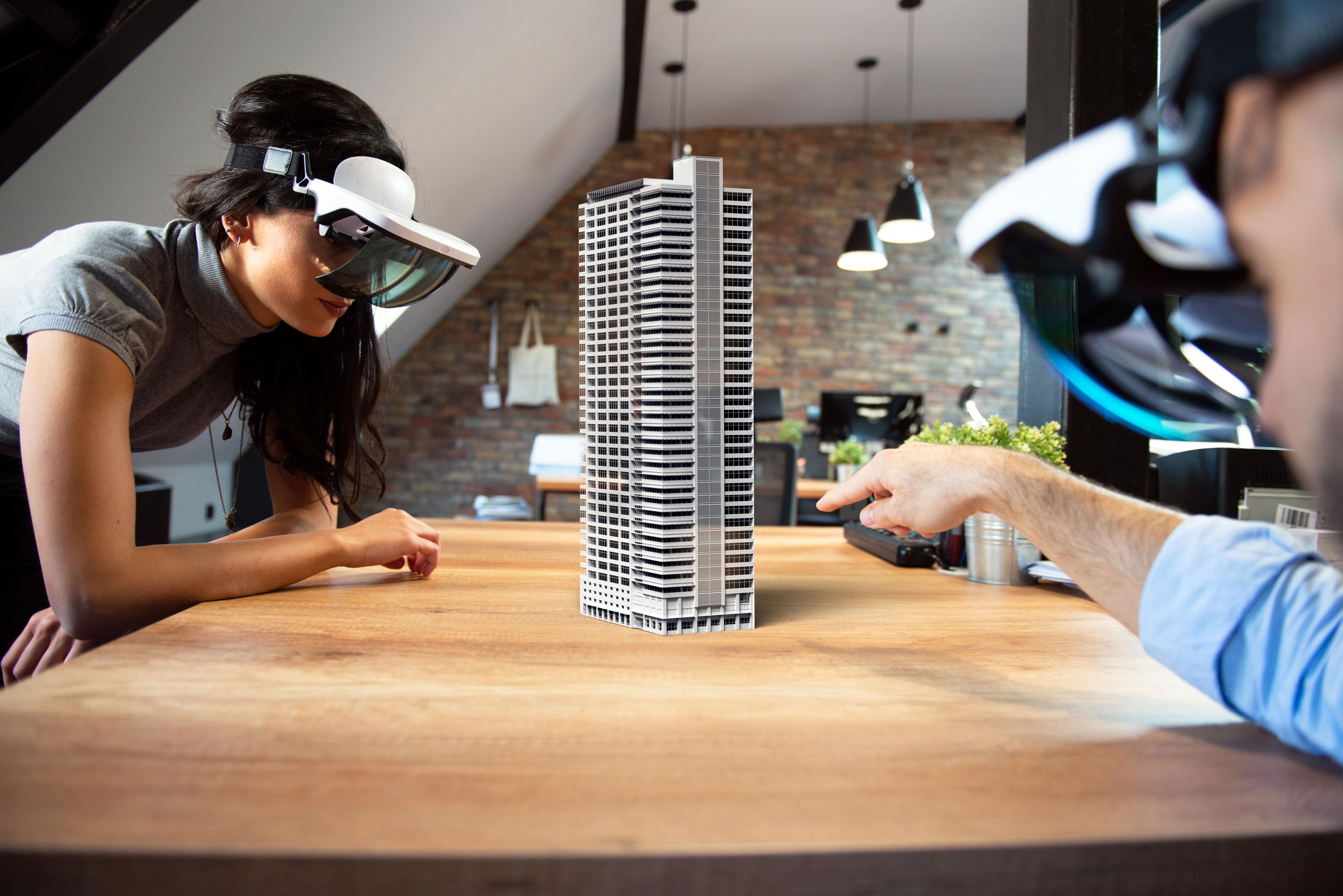 仮想世界と現実世界を重ね合わせる